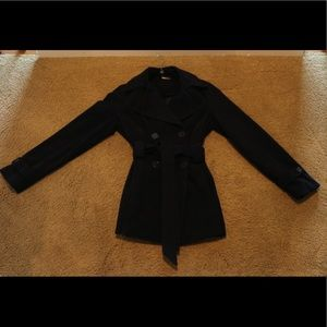 Jou Jou Navy Fleece Pea Coat